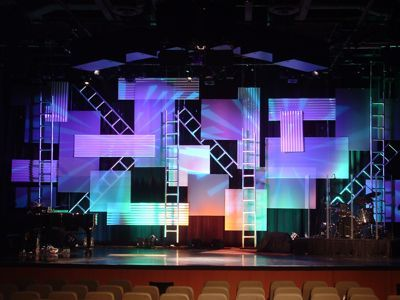 Tetris Construction Site Church Stage Design Ideas