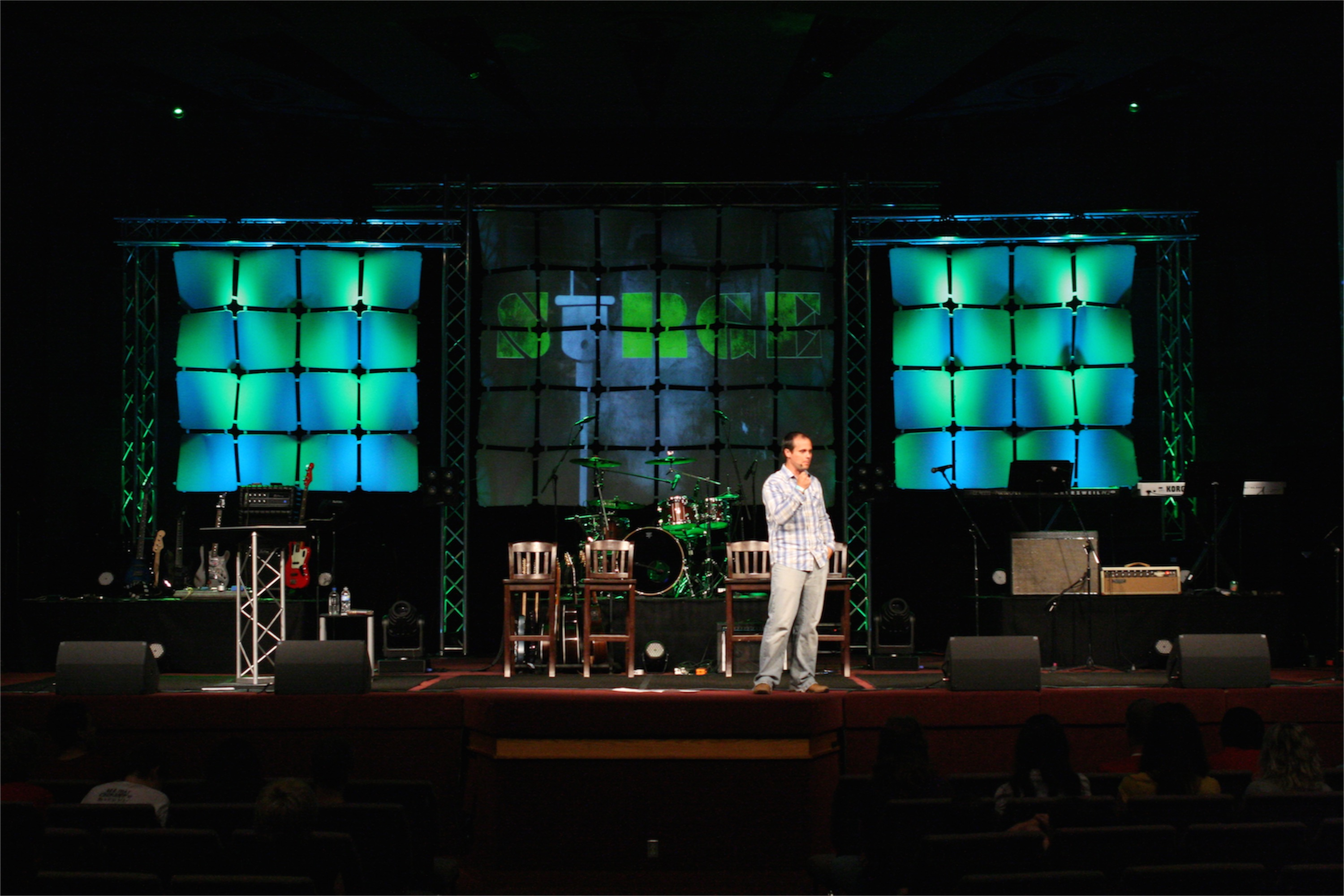 Wafer Walls | Church Stage Design Ideas