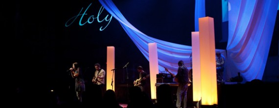 Light Pillars Church Stage Design Ideas