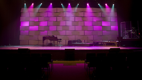 taste the rainbow church stage design ideas