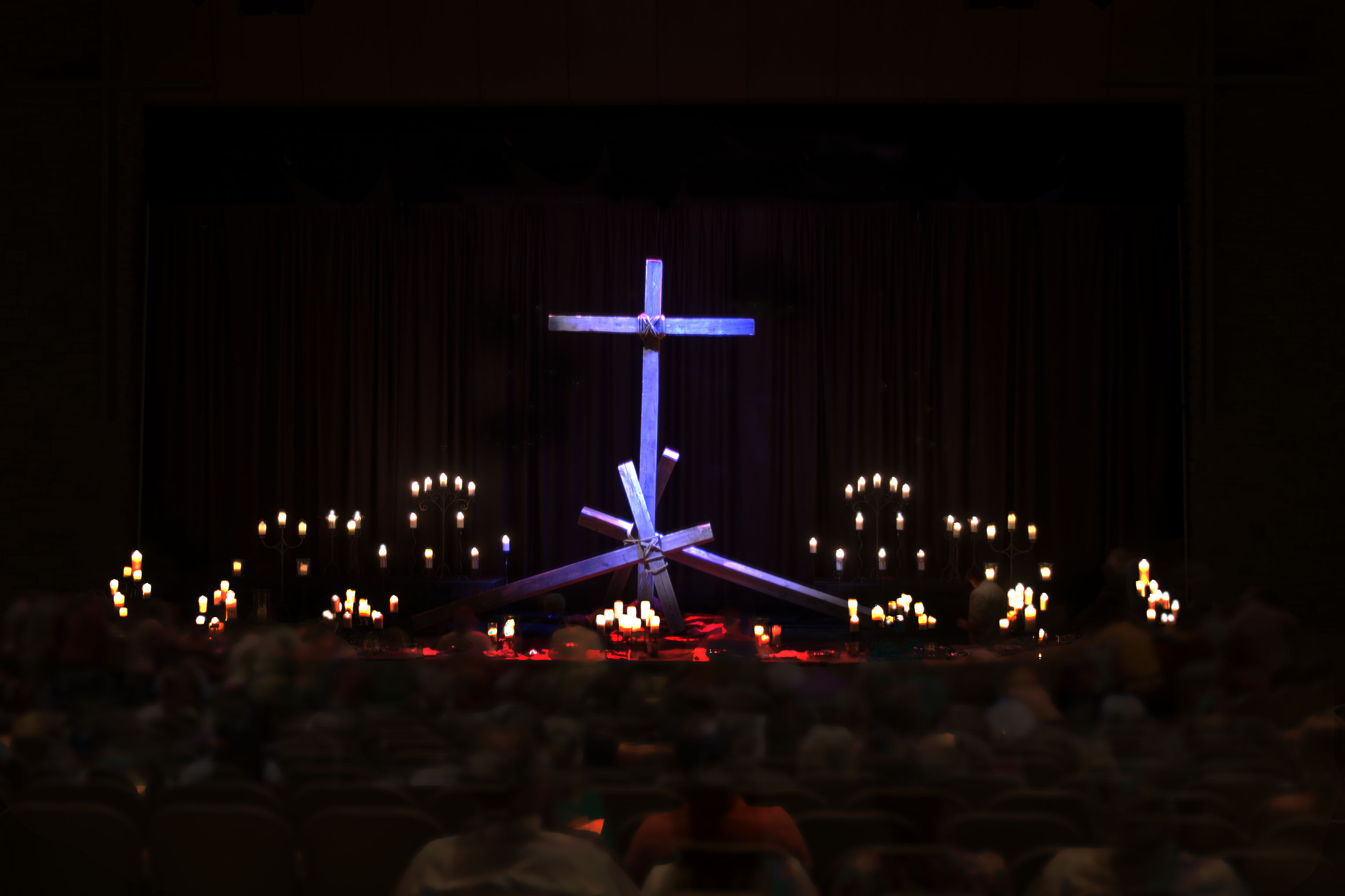 A three for one special church stage design ideas