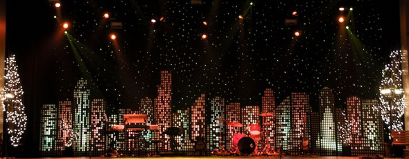 Christmas In The City Church Stage Design Ideas