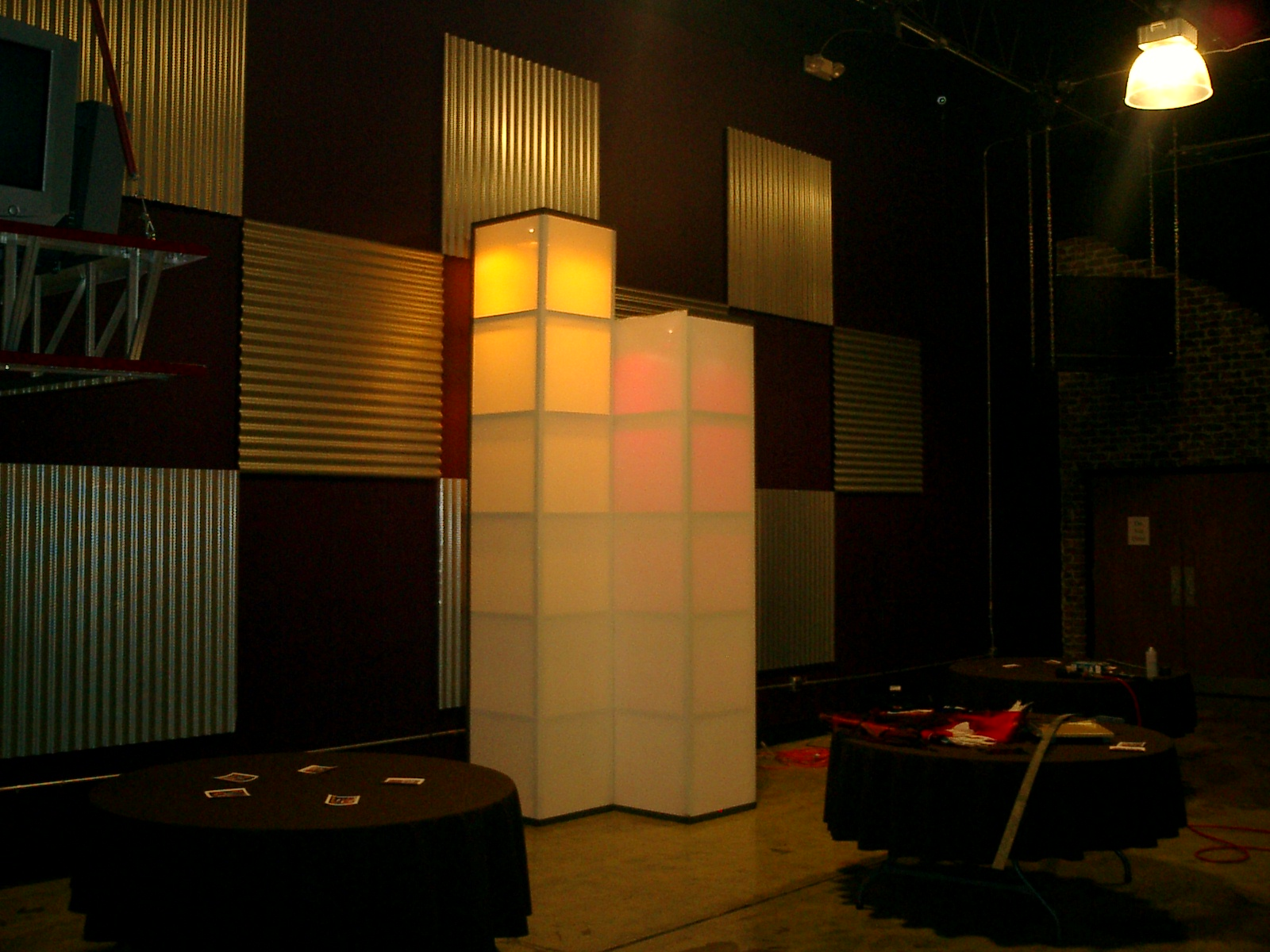 cubicles of light church stage design ideas