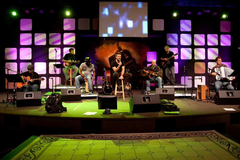 the app wall church stage design ideas