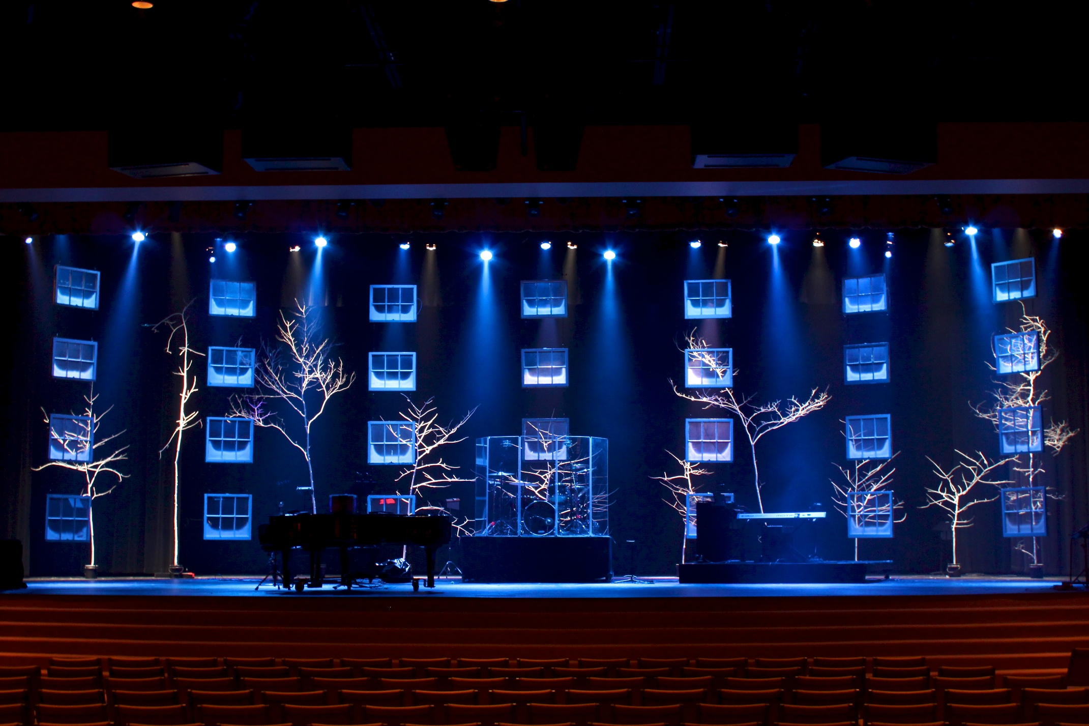 Church Stage Design Ideas Windows
