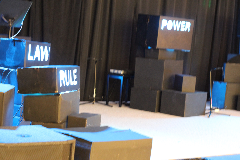 Box Words Church Stage Design Ideas