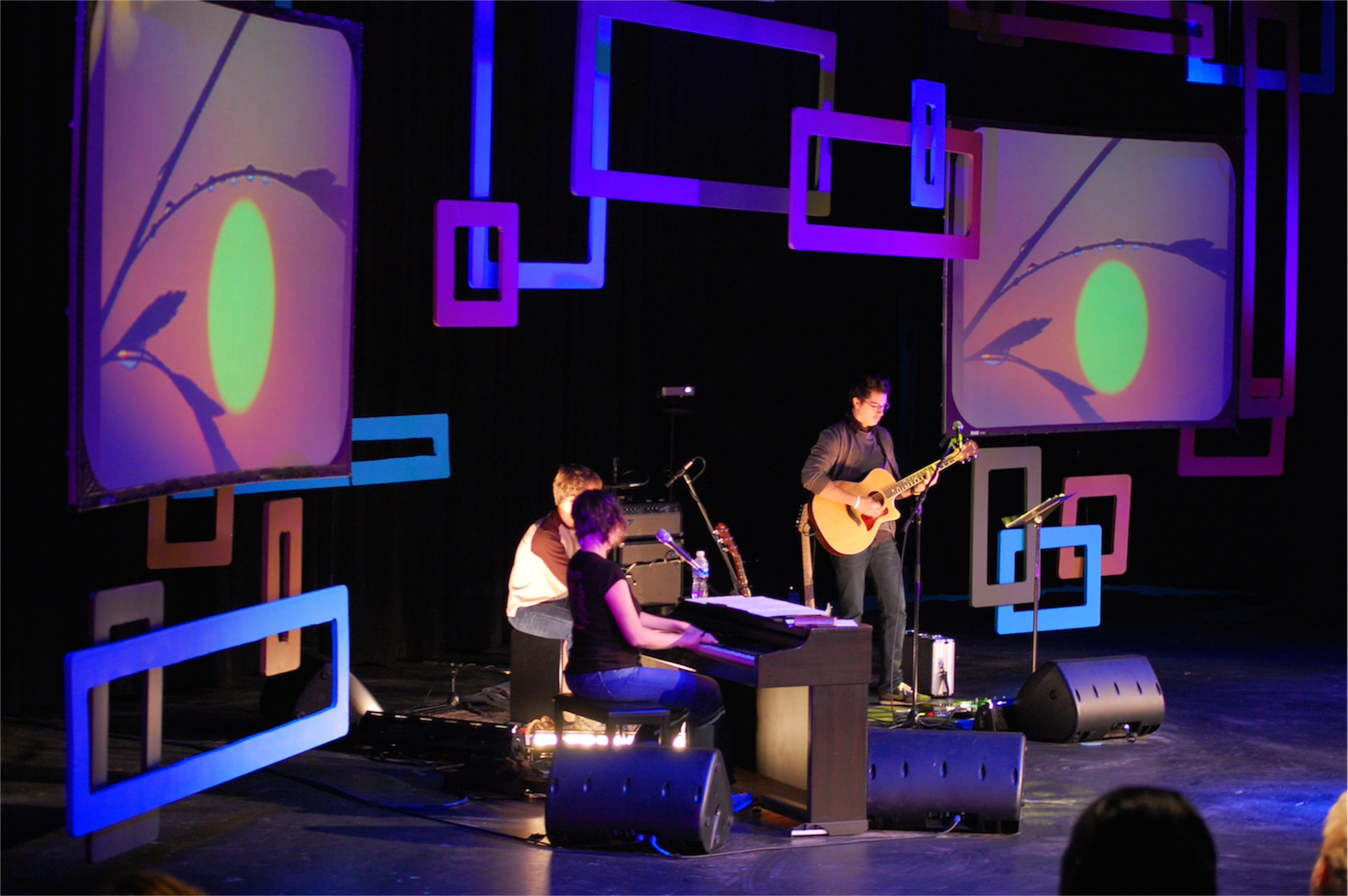 Retro Squares | Church Stage Design Ideas
