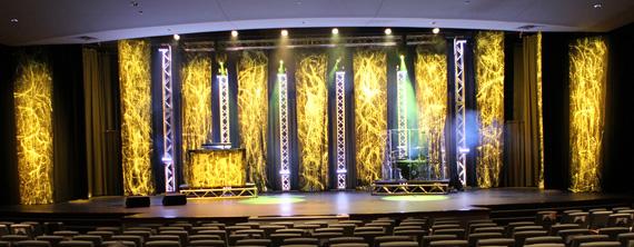 Grunge Paint Church Stage Design Ideas