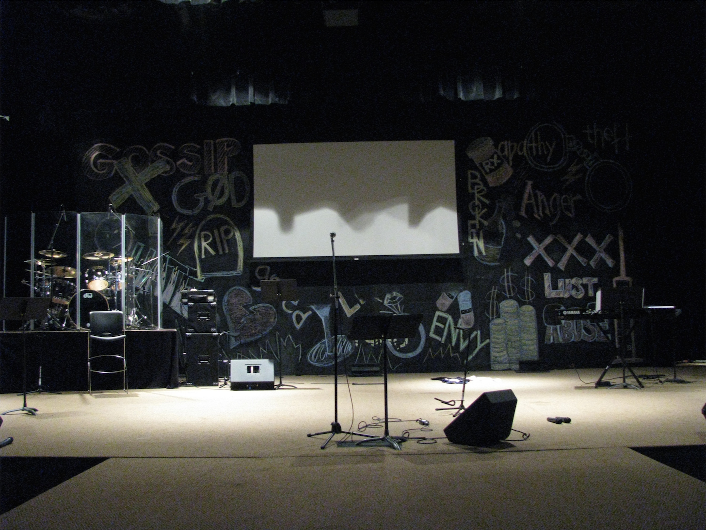 The blackboard church stage design ideas for Blackboard design ideas