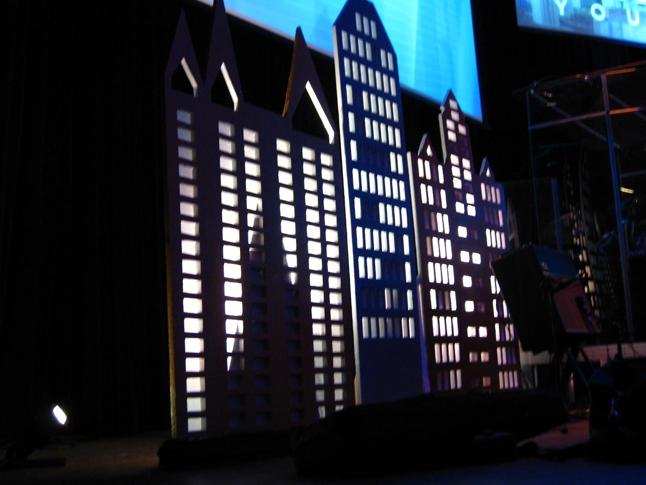Skyline Church Stage Design Ideas