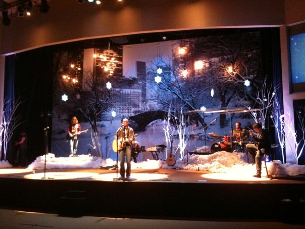 Christmas On The Lake Church Stage Design Ideas
