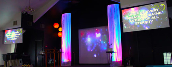 big stage on a small stage - Small Church Stage Design Ideas
