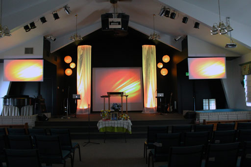 big stage on a small stage church stage design ideas