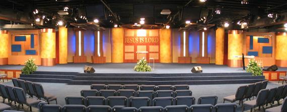 wide design church stage design ideas