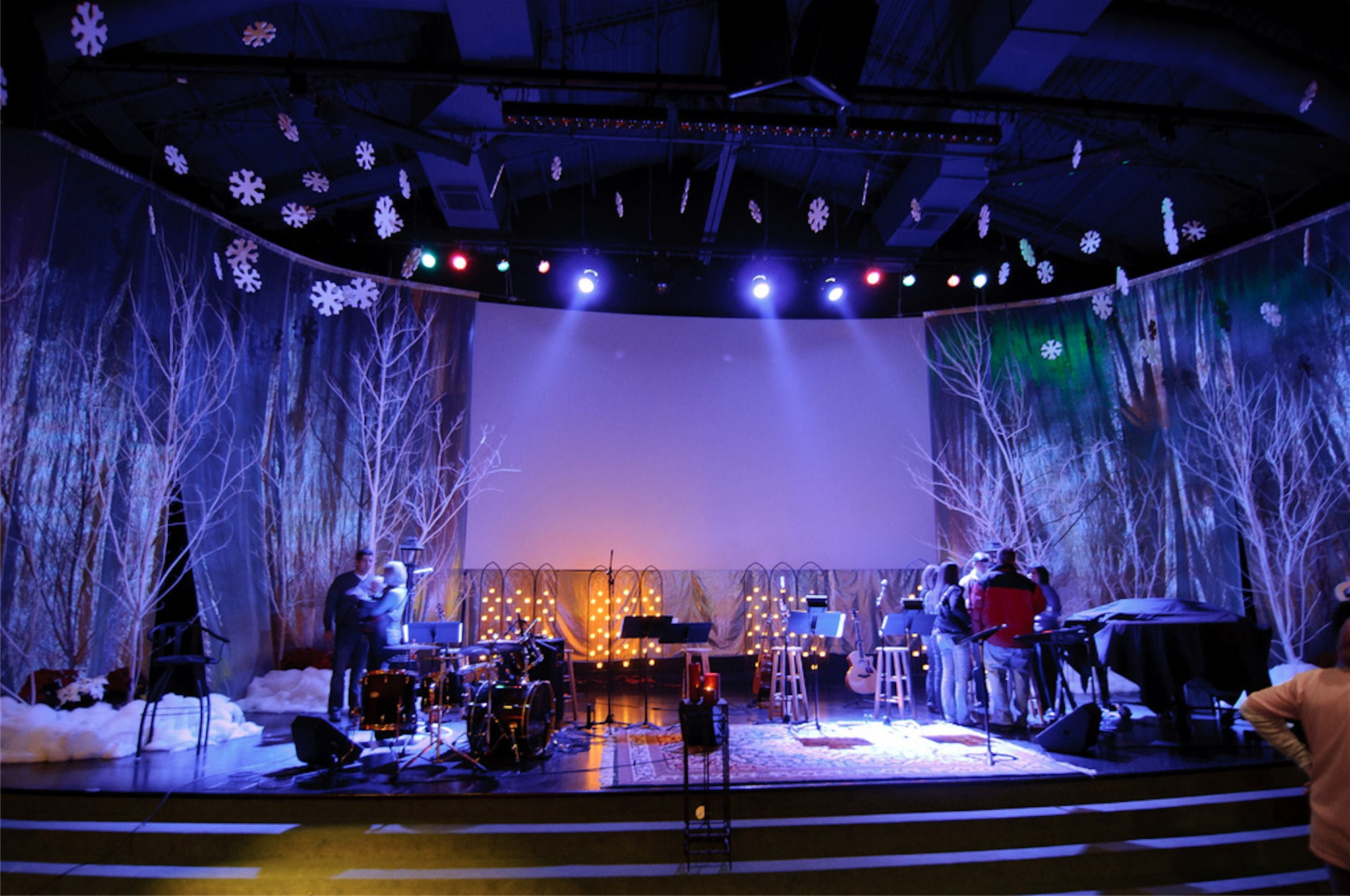 Church Stage Decoration Ideas