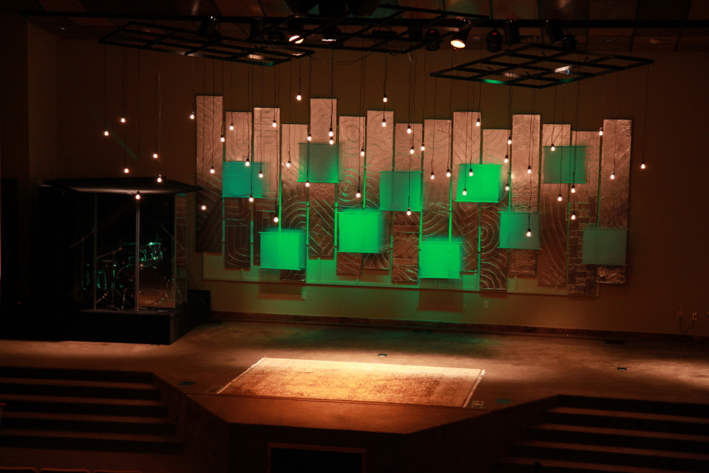 church stage design ideas string curtain church stage design ideas