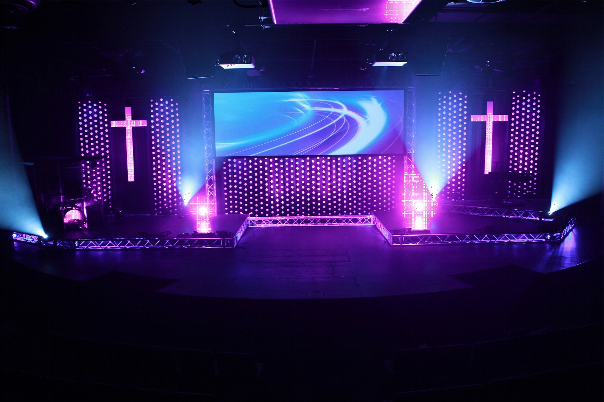 we ll have a ball church stage design ideas