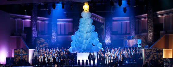 Bubble Tree Church Stage Design Ideas