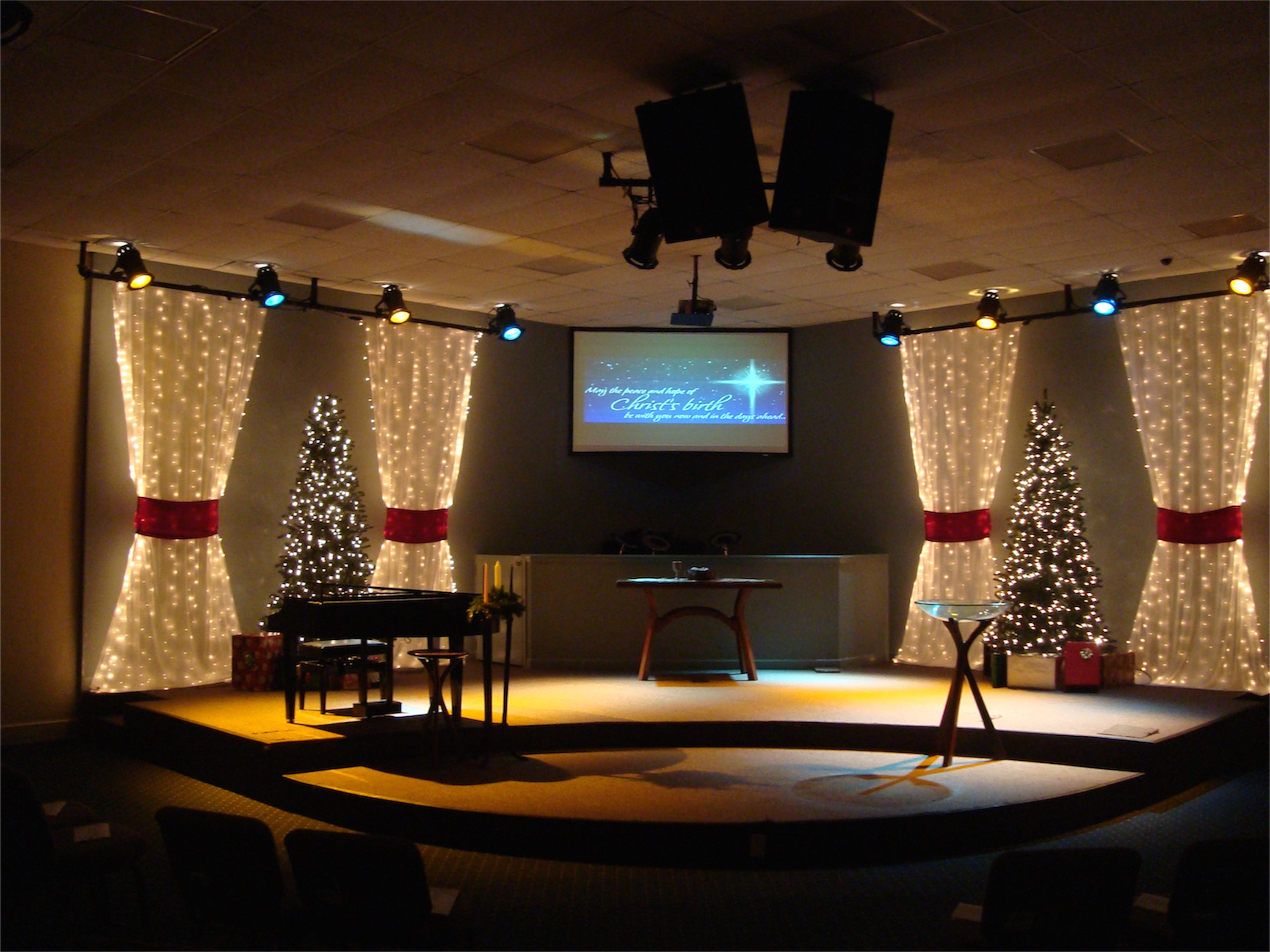 Church Design Ideas image of church stage design christmas Packed Christmas