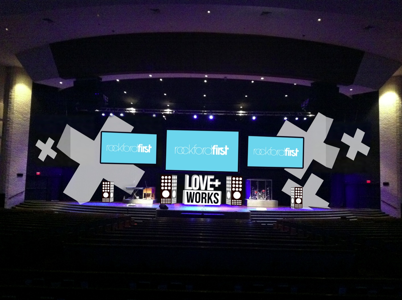 3d coroplast church stage design ideas