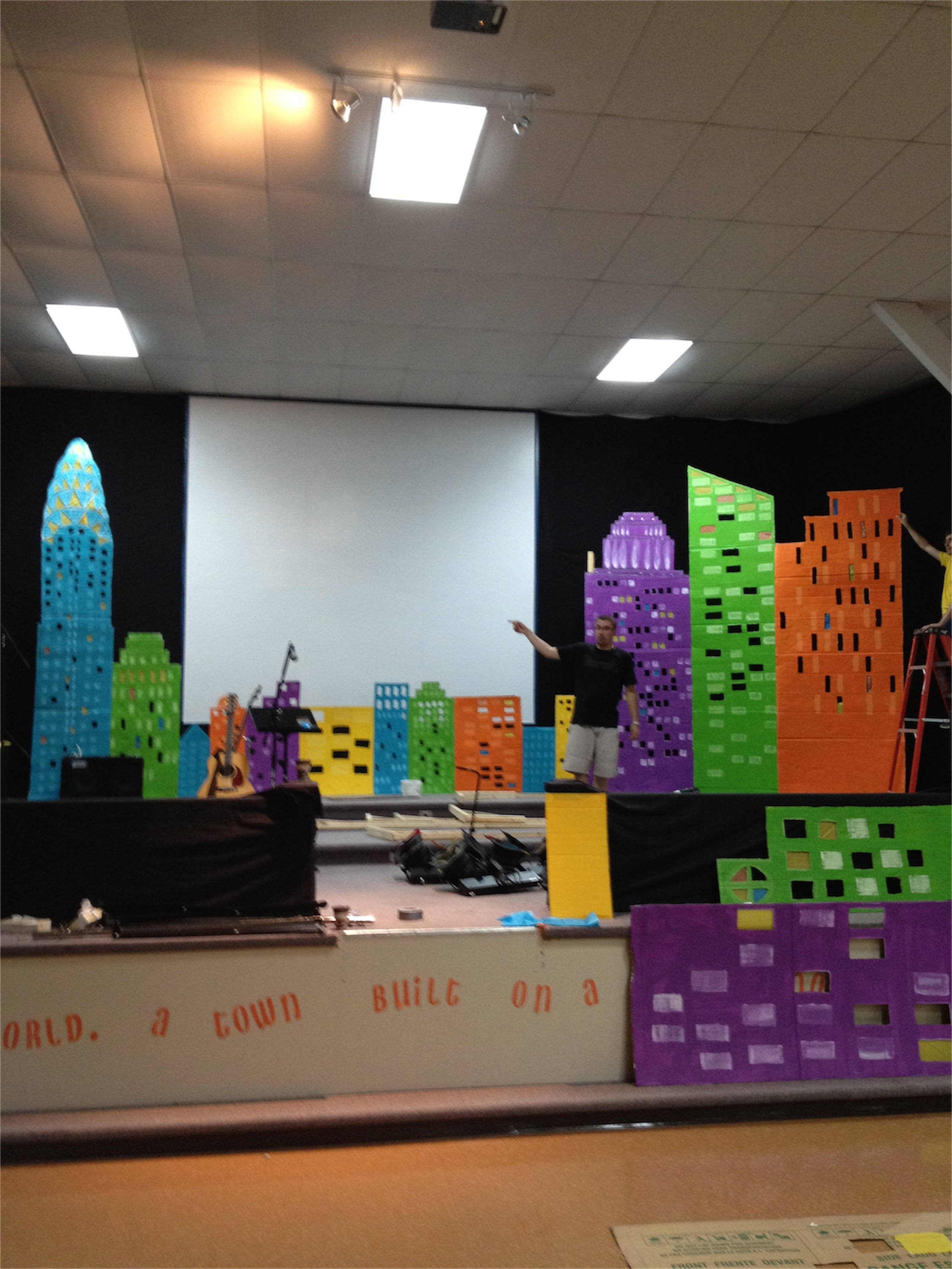 Kids In Towers Church Stage Design Ideas