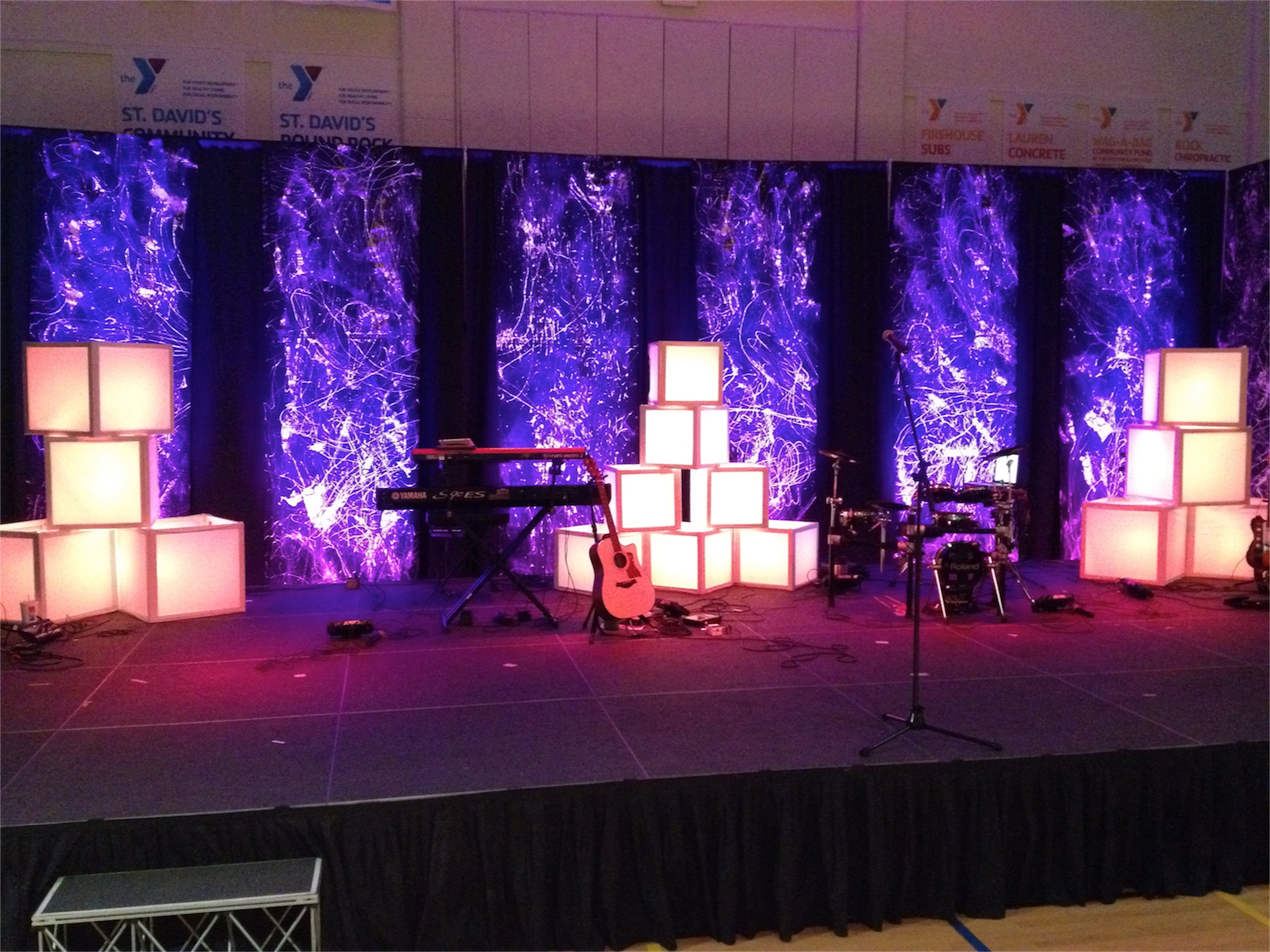 Diffuse The Light Boxes Church Stage Design Ideas
