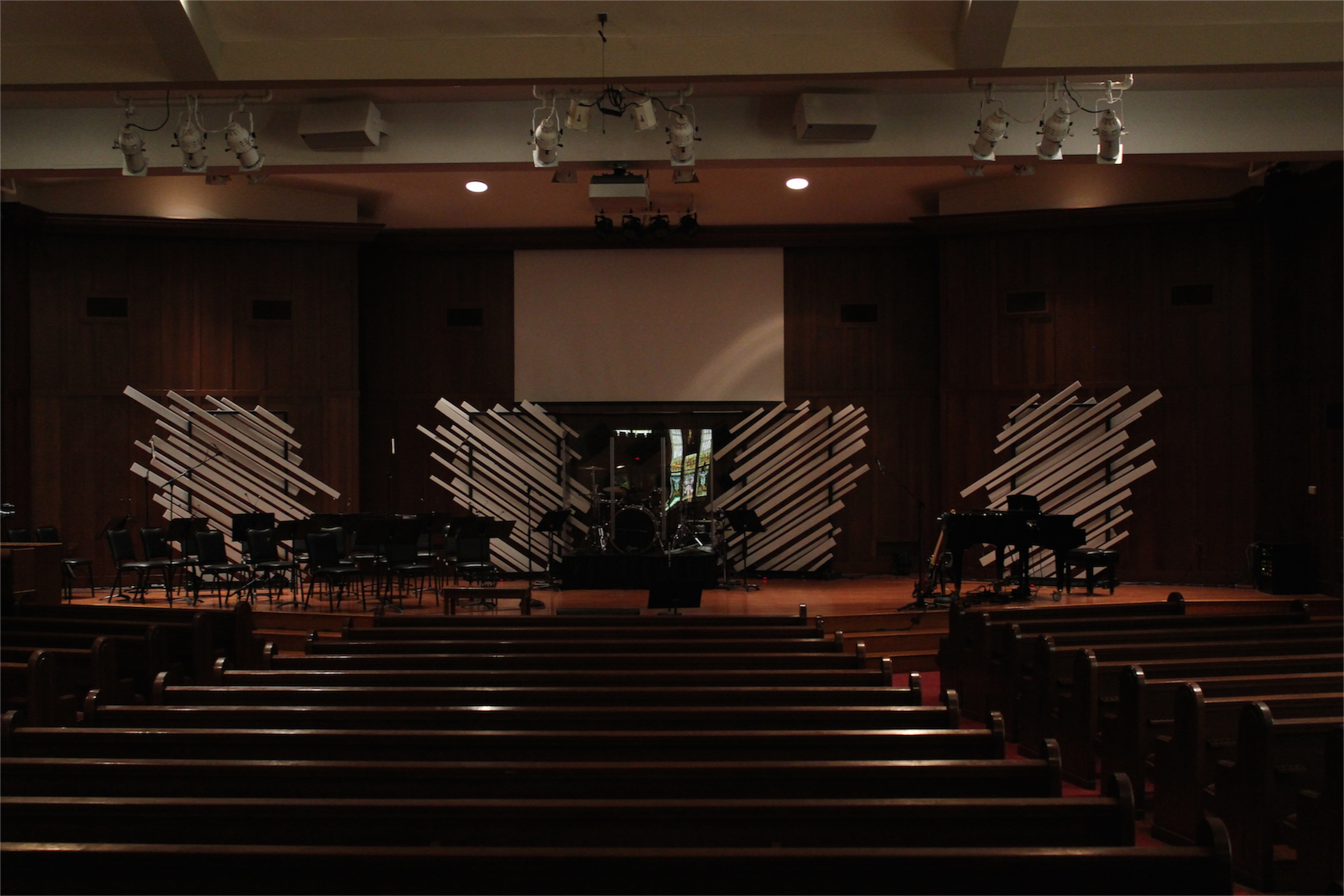 Throwback Destroyed Angel Wings Church Stage Design Ideas