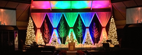 Rainbow Christmas | Church Stage Design Ideas