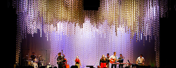 Advent Paper Chains Church Stage Design Ideas