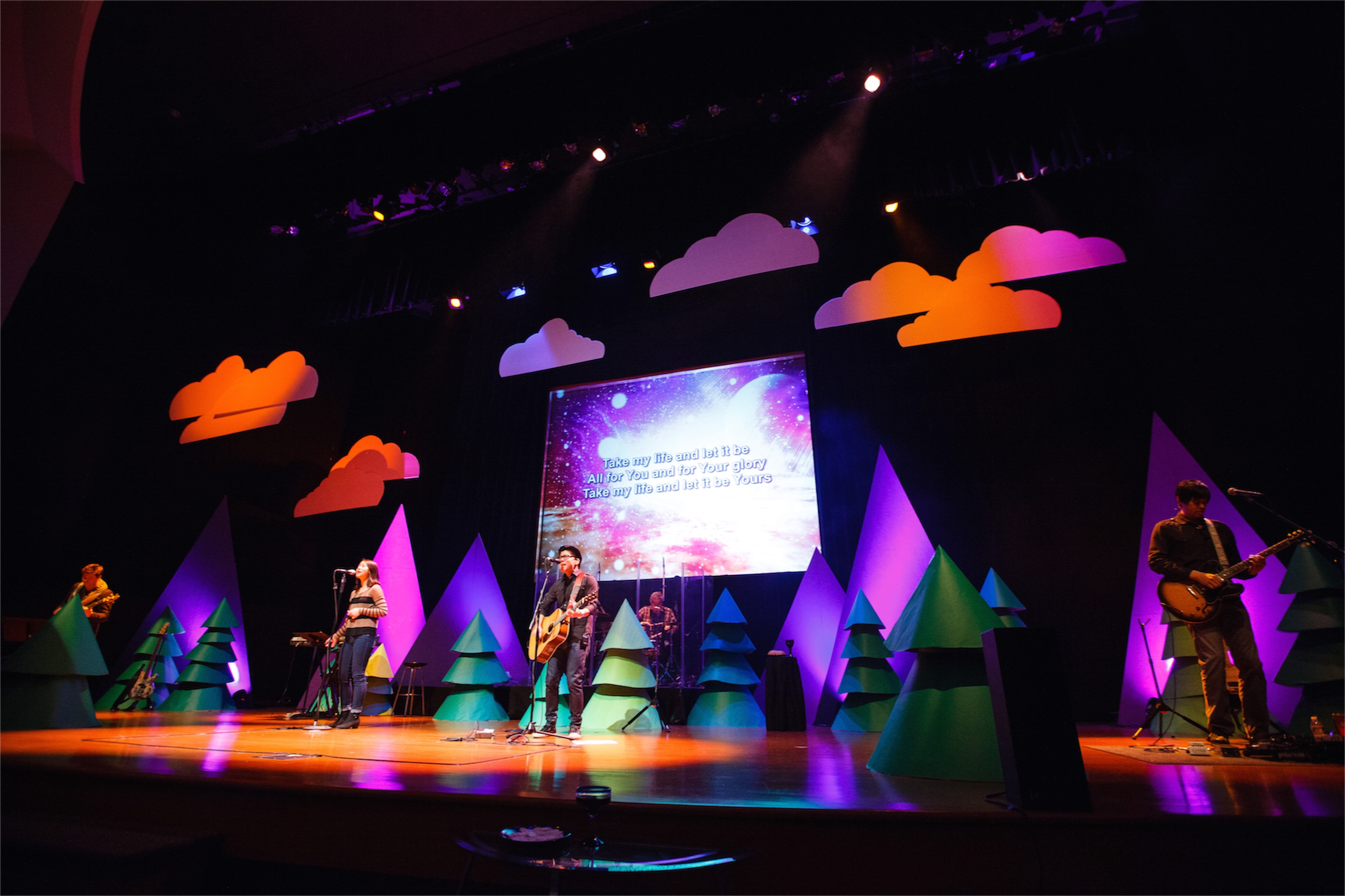 Conical Christmas | Church Stage Design Ideas - photo#6
