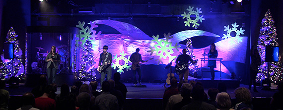 Snow Drifts Church Stage Design Ideas