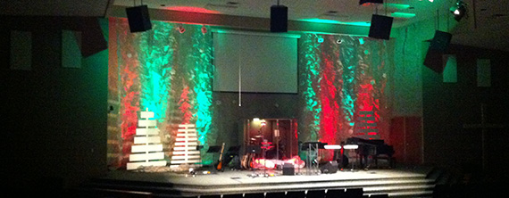 Tree Planks | Church Stage Design Ideas