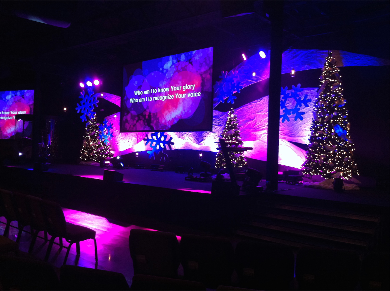 Snow Drifts Church Stage Design Ideas
