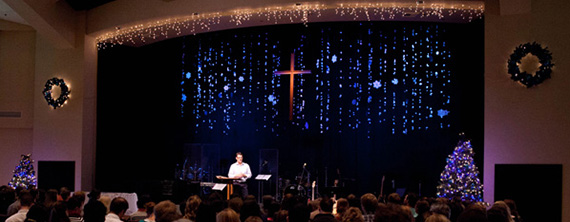 Suffering Snowflakes Church Stage Design Ideas