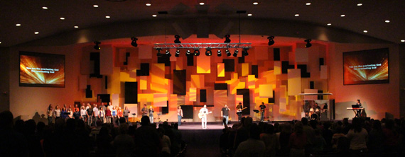 Hanging Panels Church Stage Design Ideas