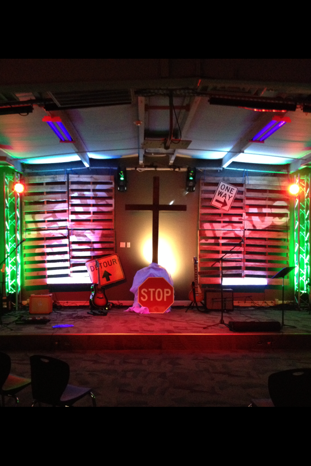 The Hard Streets Church Stage Design Ideas
