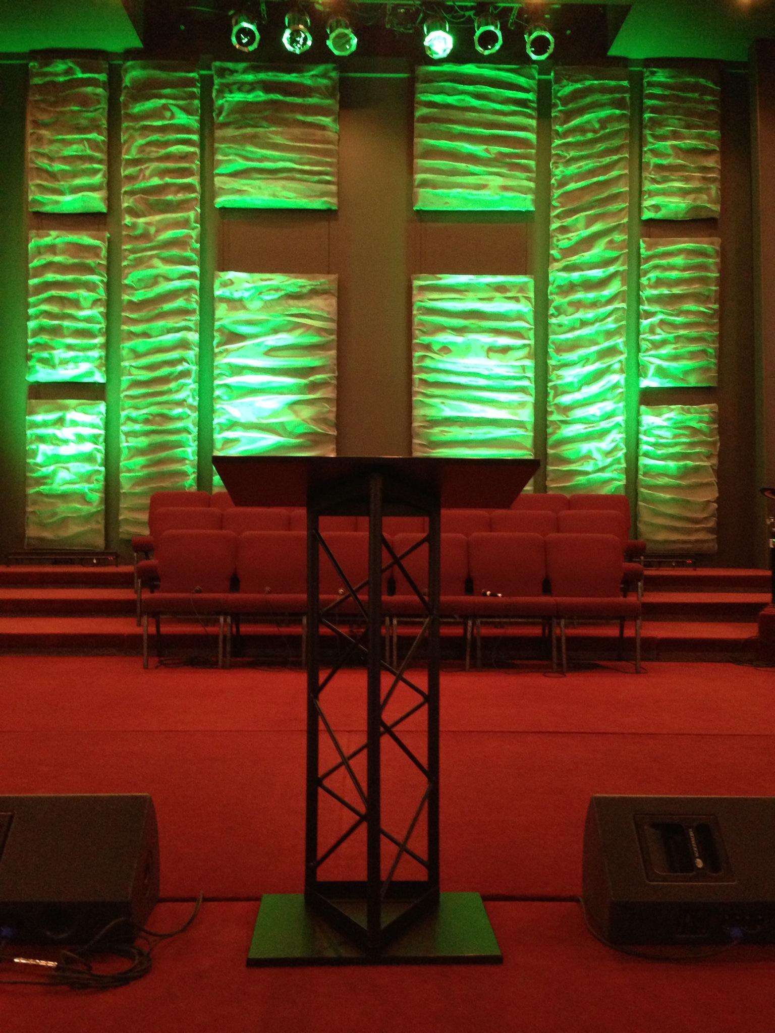 Rippled Church Stage Design Ideas