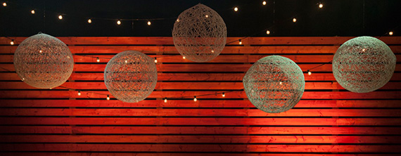 These string chandeliers would be a fantastic look in almost any ...