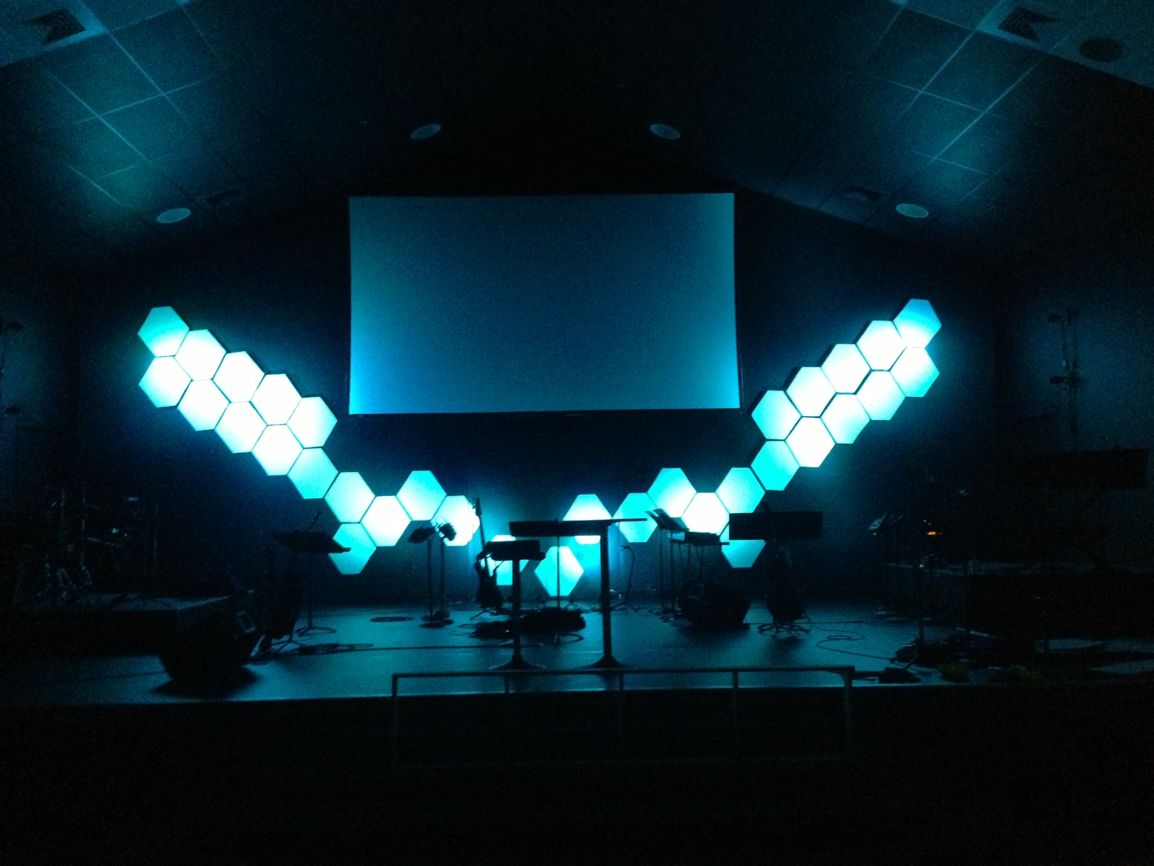 V Hive Church Stage Design Ideas