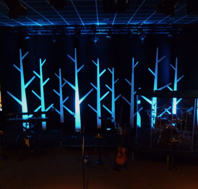 Coat Rack Forest Church Stage Design Ideas