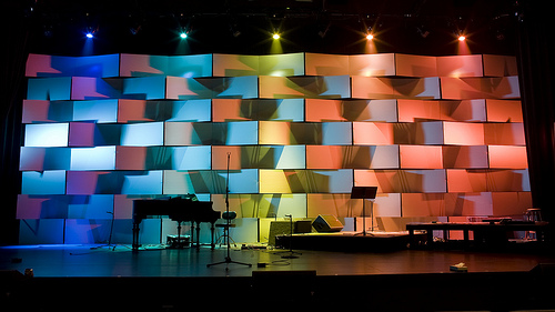 a great use of coroplast taste the rainbow if youve been exploring churchstagedesignideascom - Small Church Stage Design Ideas