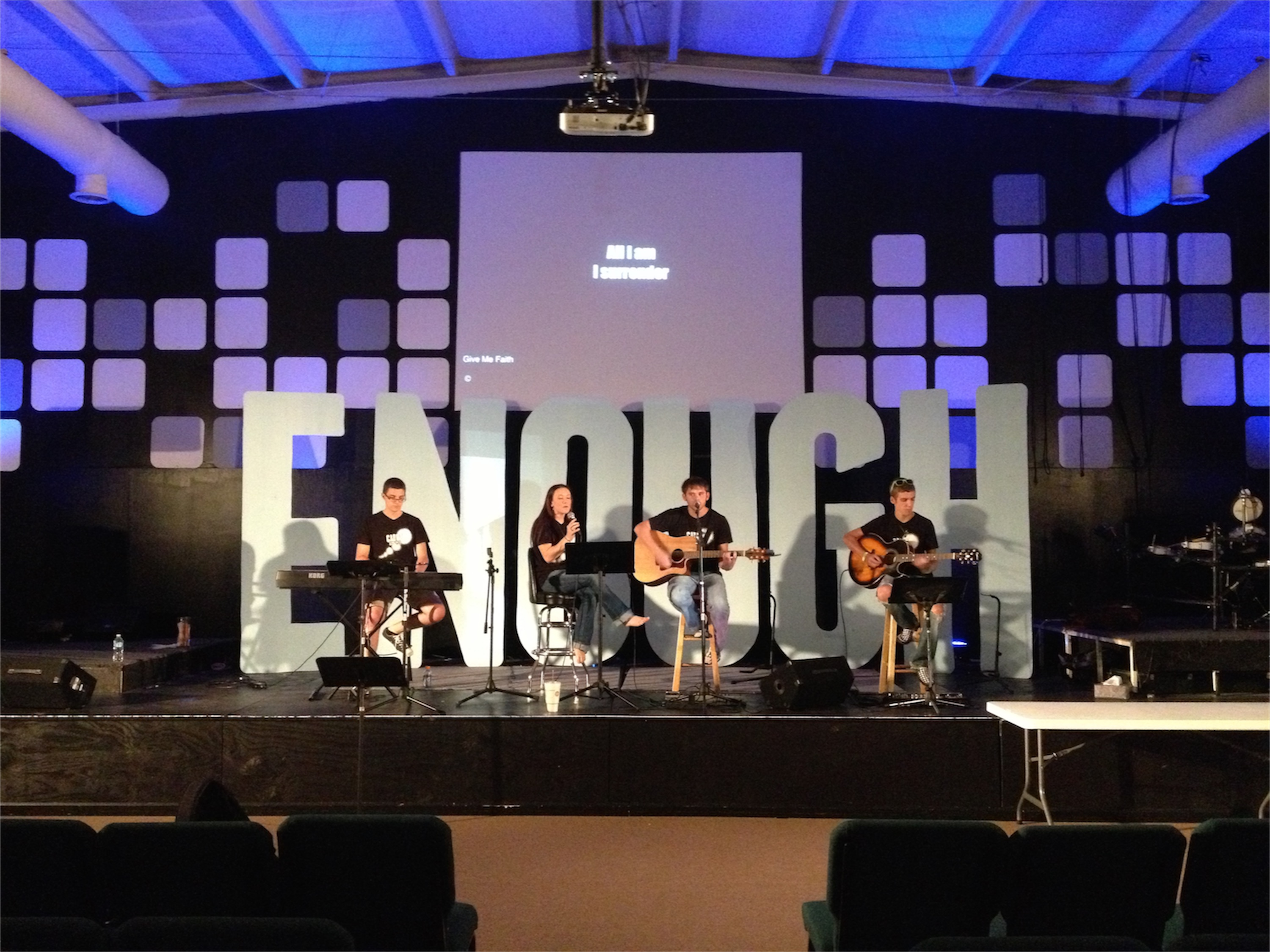largely enough church stage design ideas