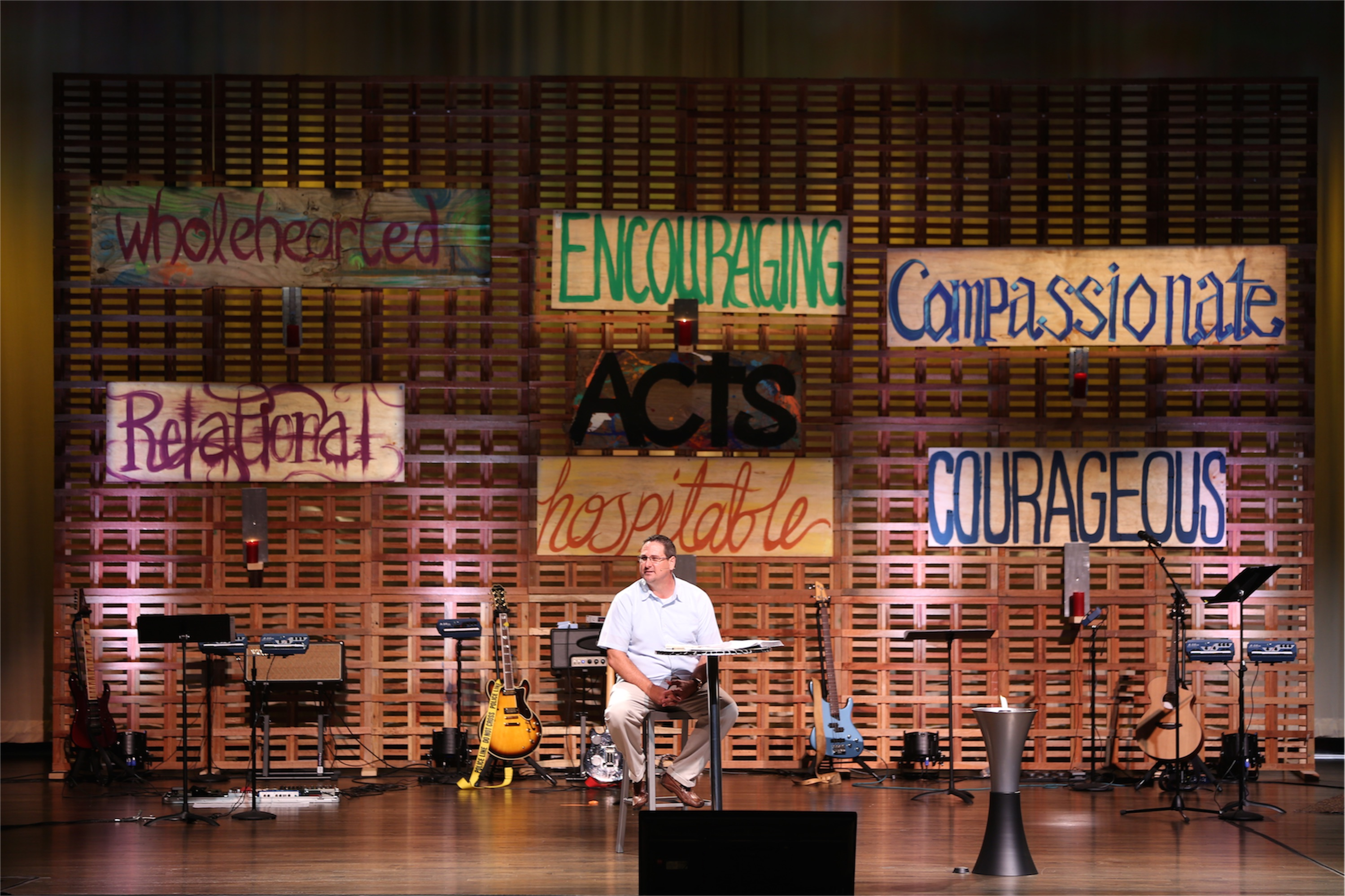 Massive Pallet Wall | Church Stage Design Ideas