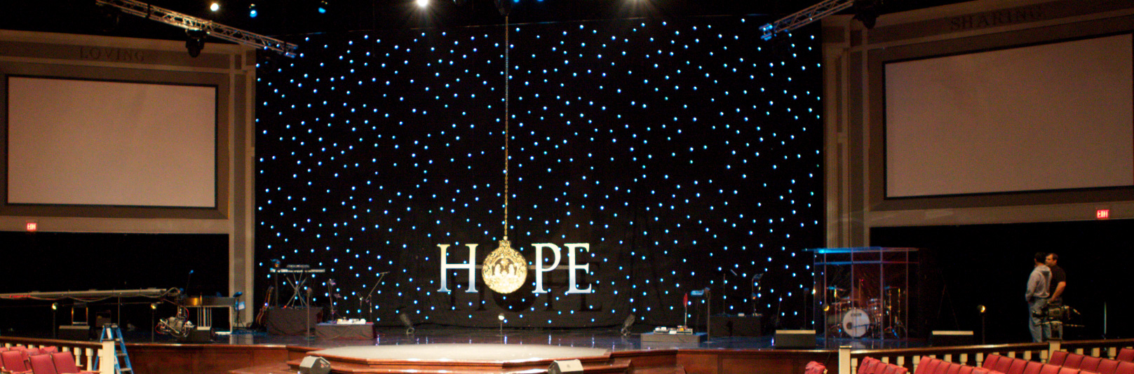 dangling hope church stage design ideas