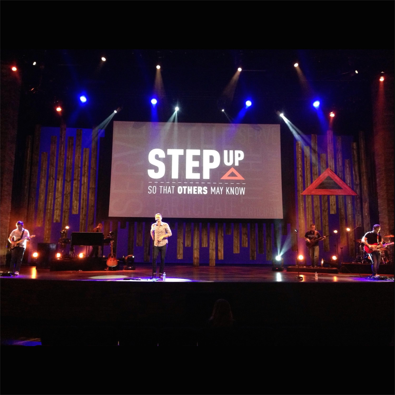 Long Stripes Church Stage Design Ideas