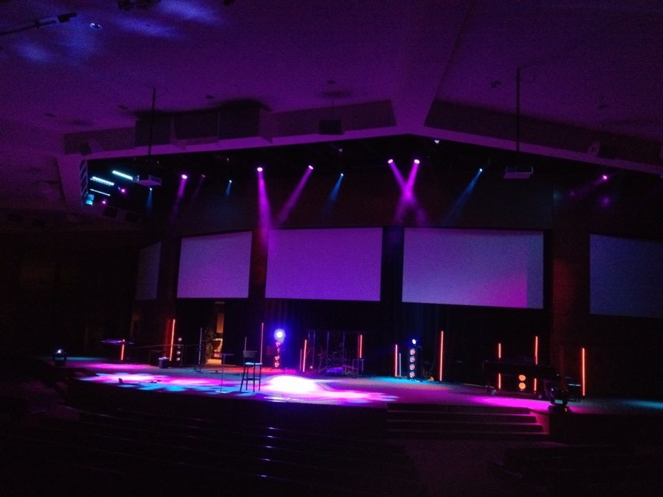 Industrial Light Sabers Church Stage Design Ideas