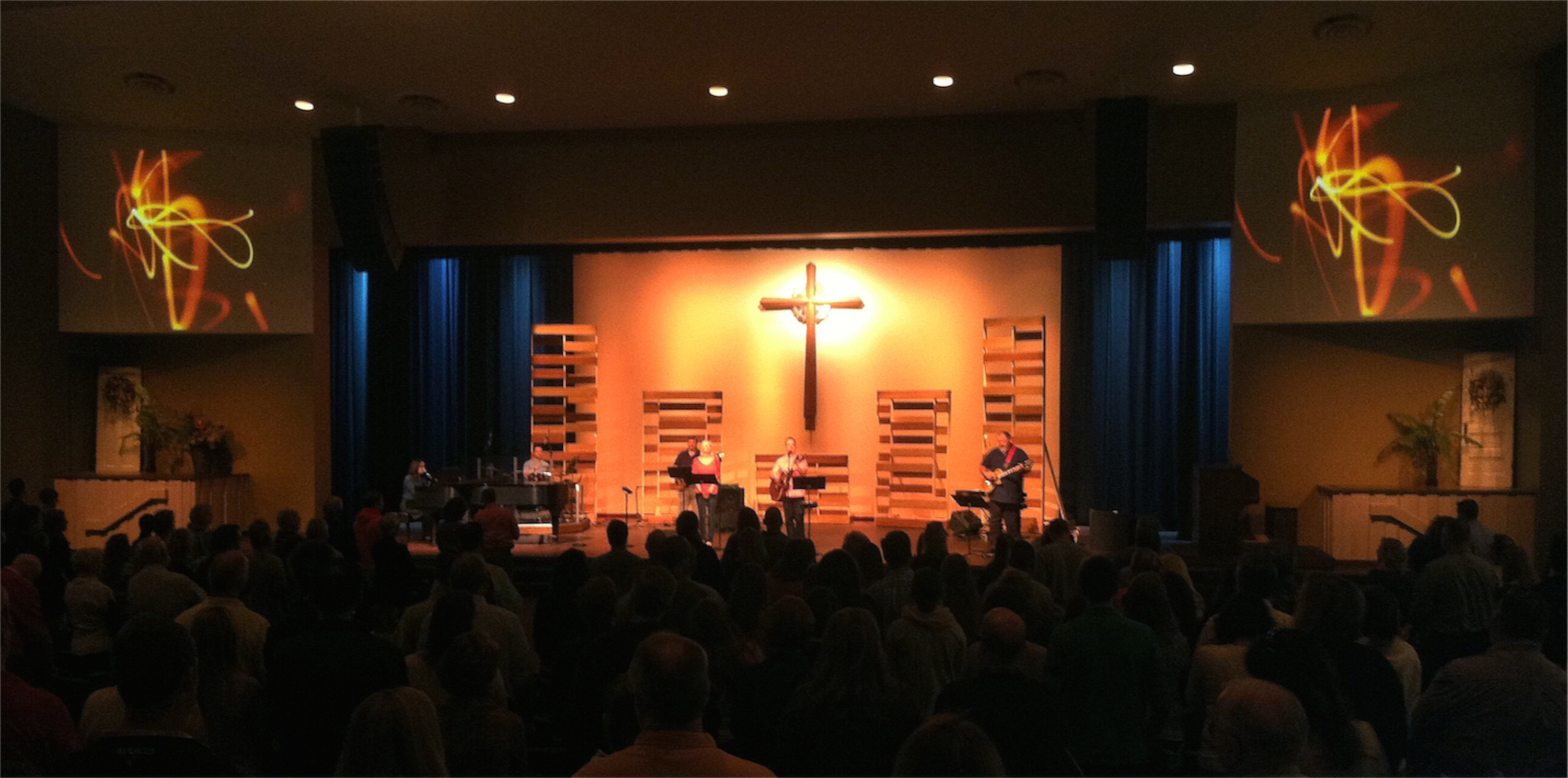 real wood backings church stage design ideas