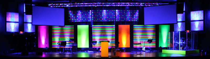 disco tech church stage design ideas - Stage Design Ideas