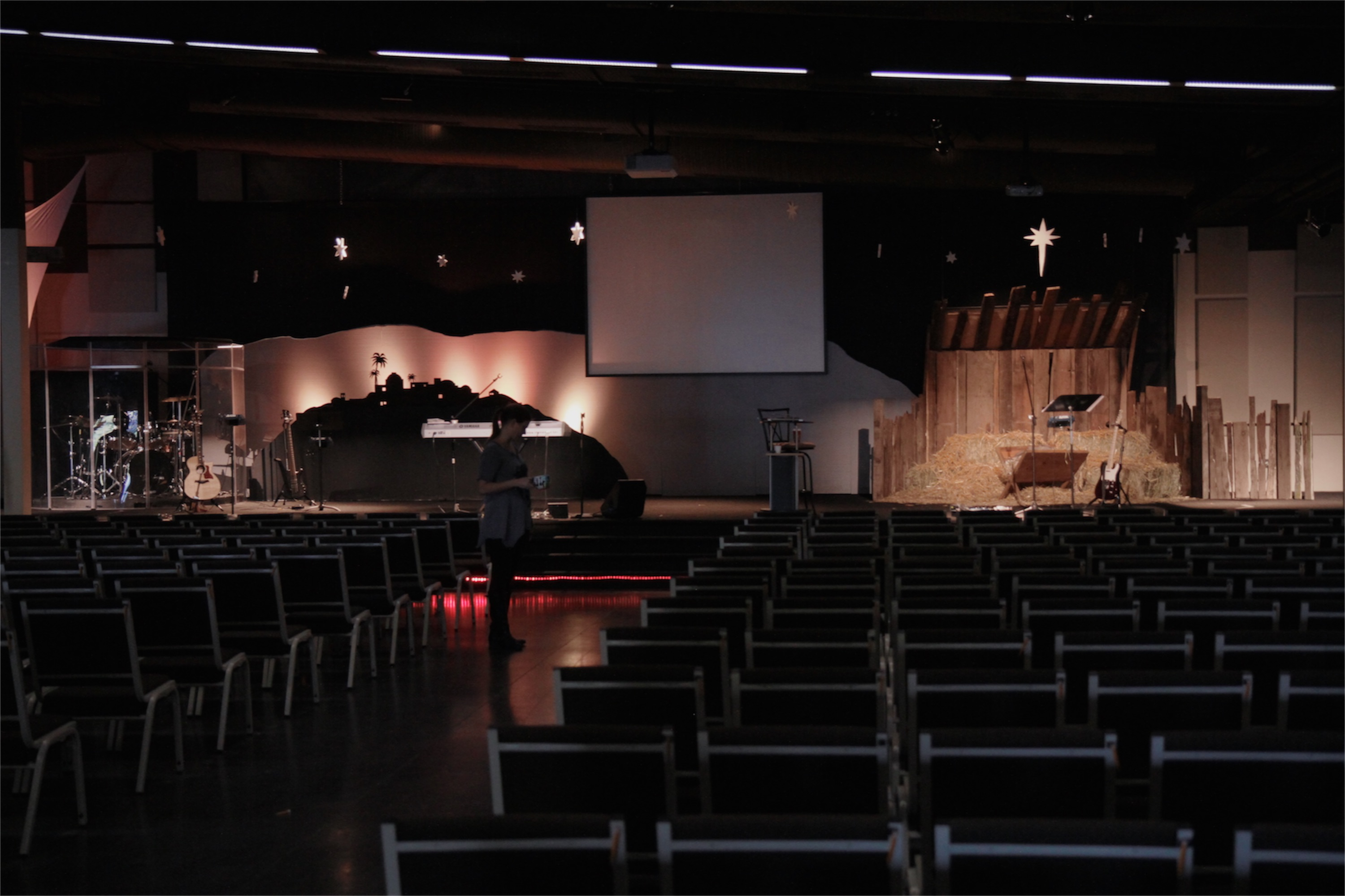 A Stable In Bethlehem Church Stage Design Ideas