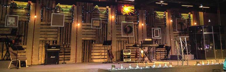 Pallet Swirls | Church Stage Design Ideas